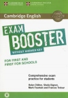 Cambridge English Exam Booster for First and First for Schools without answer key with Audio Comprehensive Exam Practice for Students